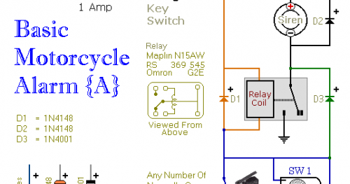 Two Simple Relay Based Motorcycle Alarms Circuit Marts