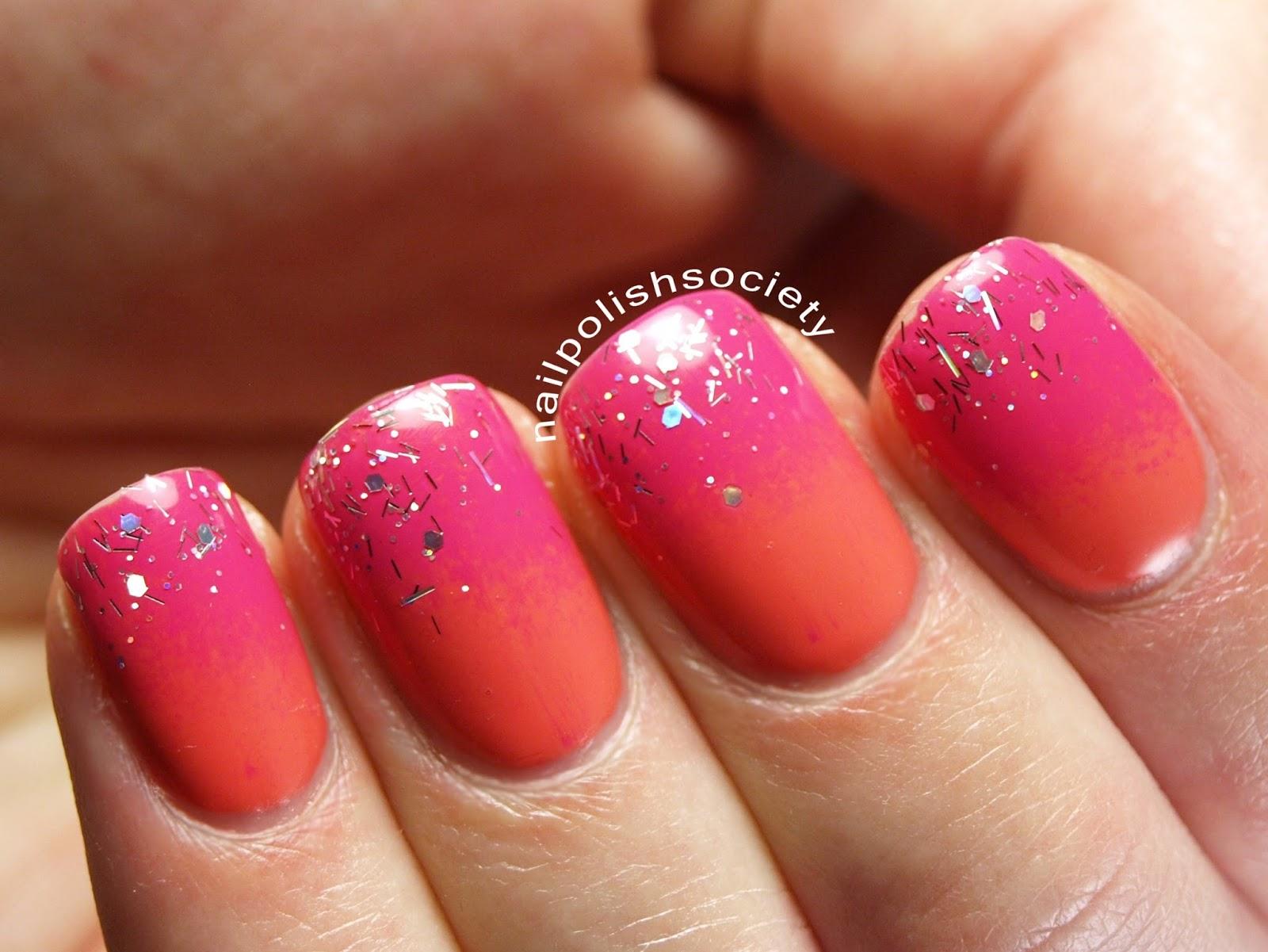 Nail Polish Society Glitter Tropical Fruit Smoothie