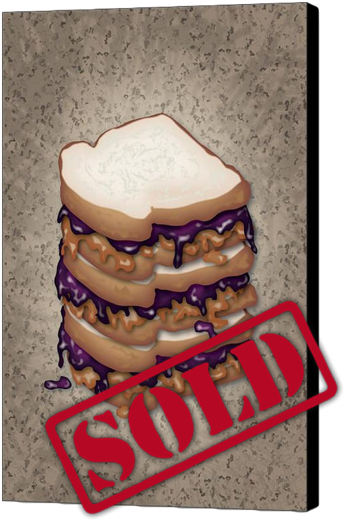 Peanut Butter and Jelly Sandwich Print