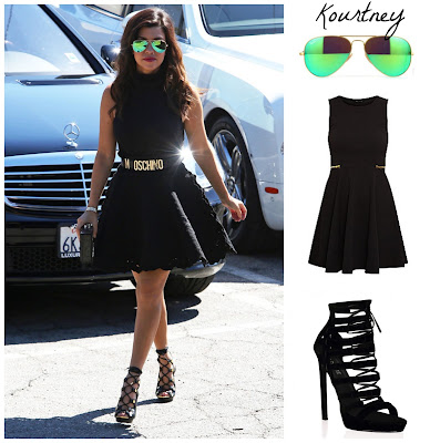 kourtney kardashian fashion outfit in the style of