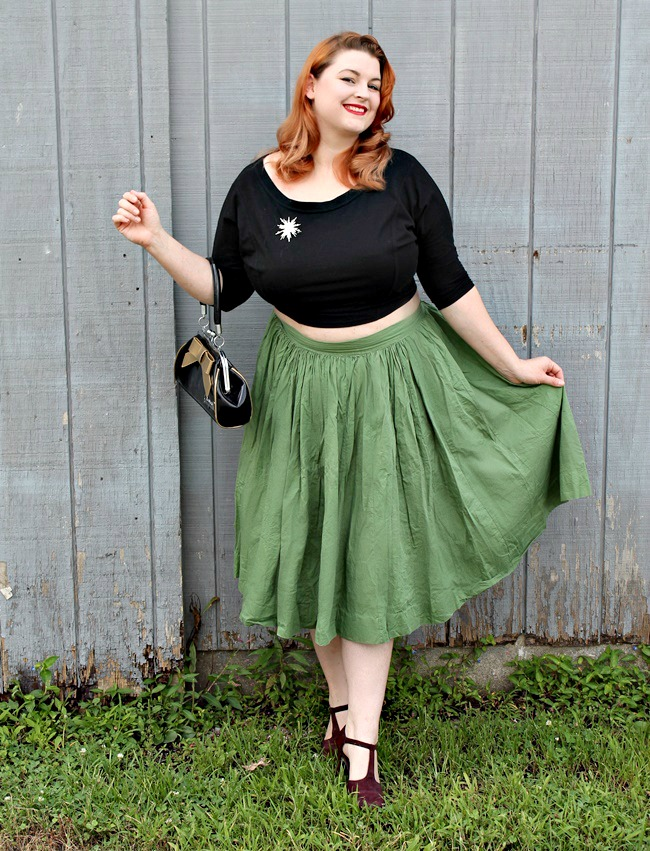 how to pull off a crop top from va voom vintage