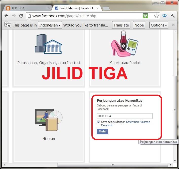 JILID TIGA: Cara Membuat Fanspage Facebook