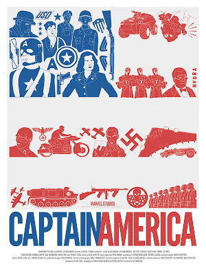 Marvel Movie Poster Series by DaveWill - Captain America: The First Avenger Print