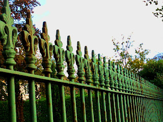 green railings