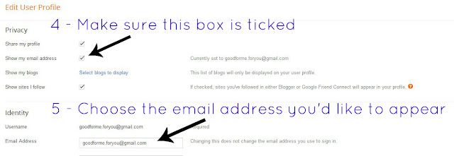 Make sure the show email address button is clicked and that your email address is in the email address box.