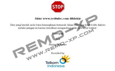redtube%2Bblokir Tips Membuka Situs Yang Di Blokir Oleh Nawala, Telkom, AHA