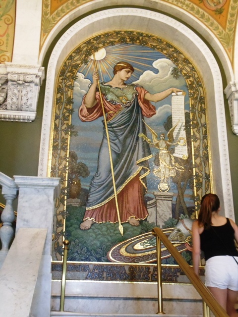 Mural located inside Library of Congress