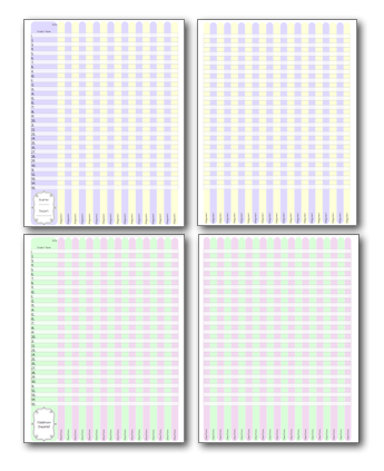Blank Grade Book Printable Grade book pages and student