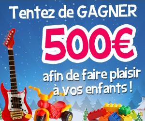 Jeu concours : Gagnez 1 chèque de 500 euros