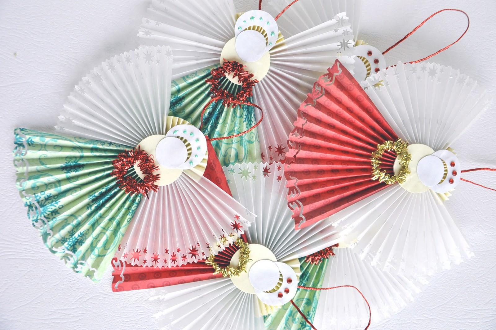 Елочные игрушки из бумаги своими руками самодельные