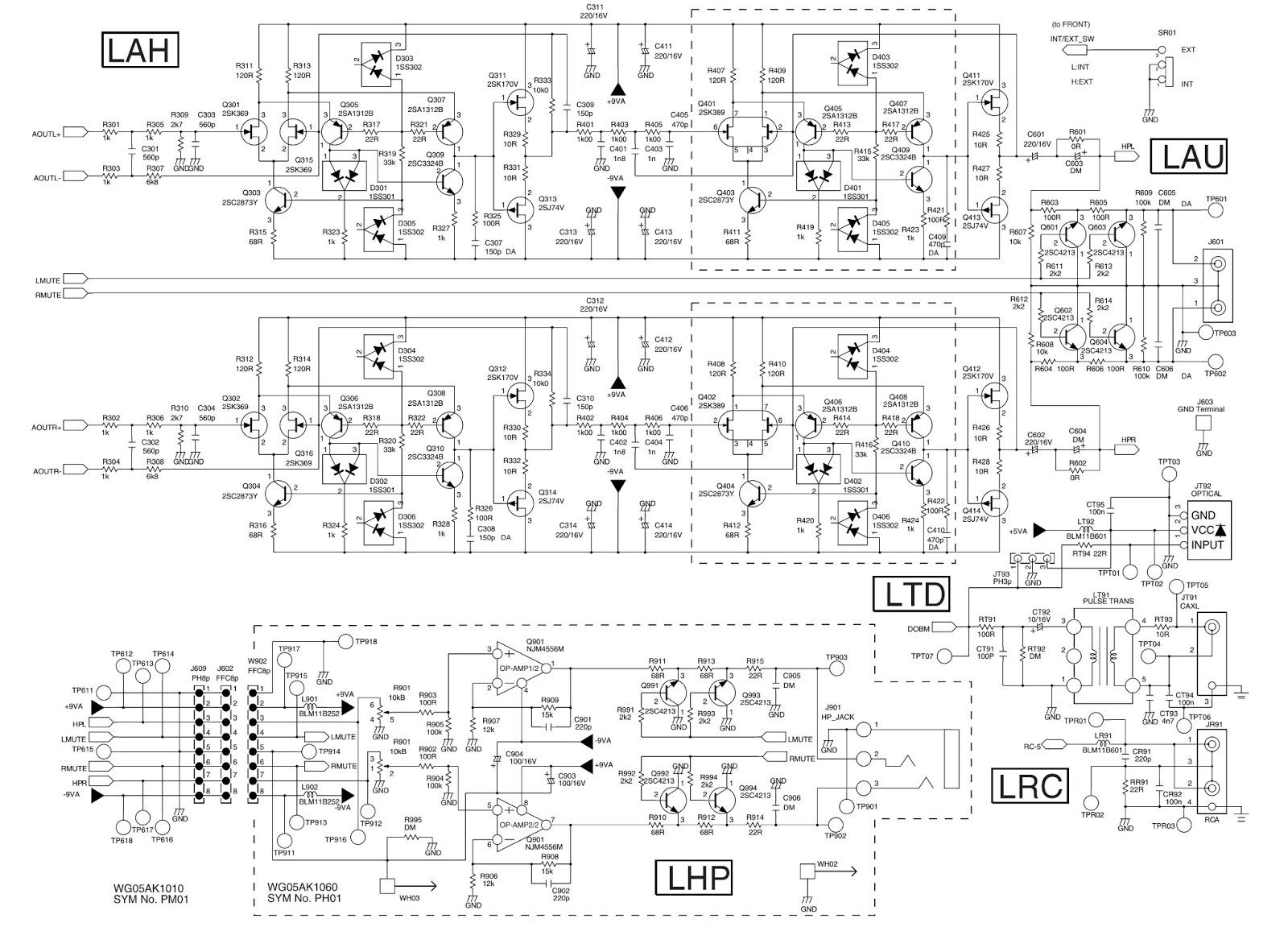Schematic Diagram Maranz Cd7300 Headphone Amplifier Pre Lifier Circuit Ampifier Power Supply