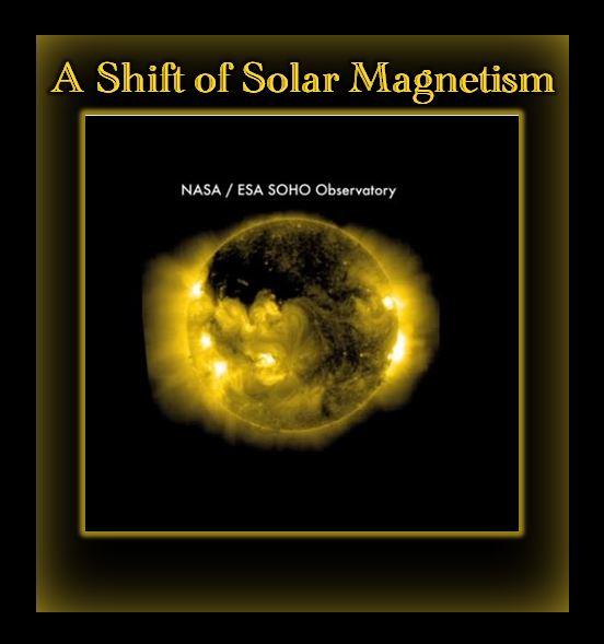 This NASA-ESA-SOHO Observatory shows the Sun's magnetic flip already