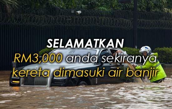 Tips Selamatkan Kereta yang Masuk Air Banjir