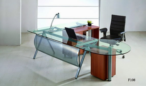 Glass Accent Office Desk