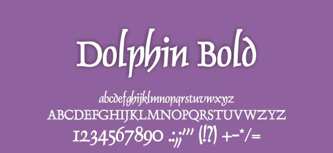 Kumpulan Font Undangan - Dolphin Bold Font