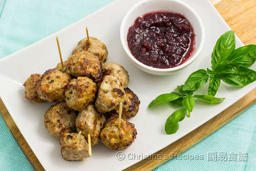 肉丸配蔓越莓醬 Meatballs with Cranberry Sauce03