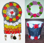 recycle handycraft, flower paper pulp, kerajinan daur ulang bubur kertas