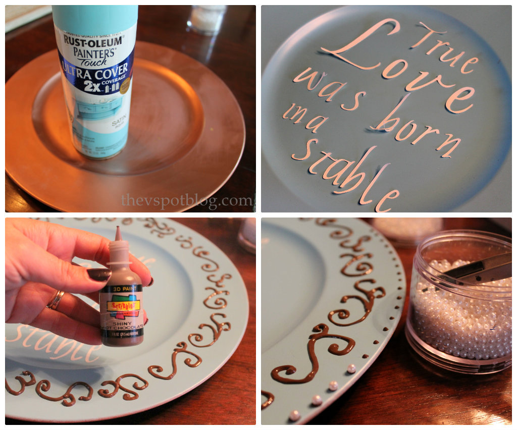 HAPPY Holidays DIY 3-D Holiday Plate : decorative plate chargers - pezcame.com