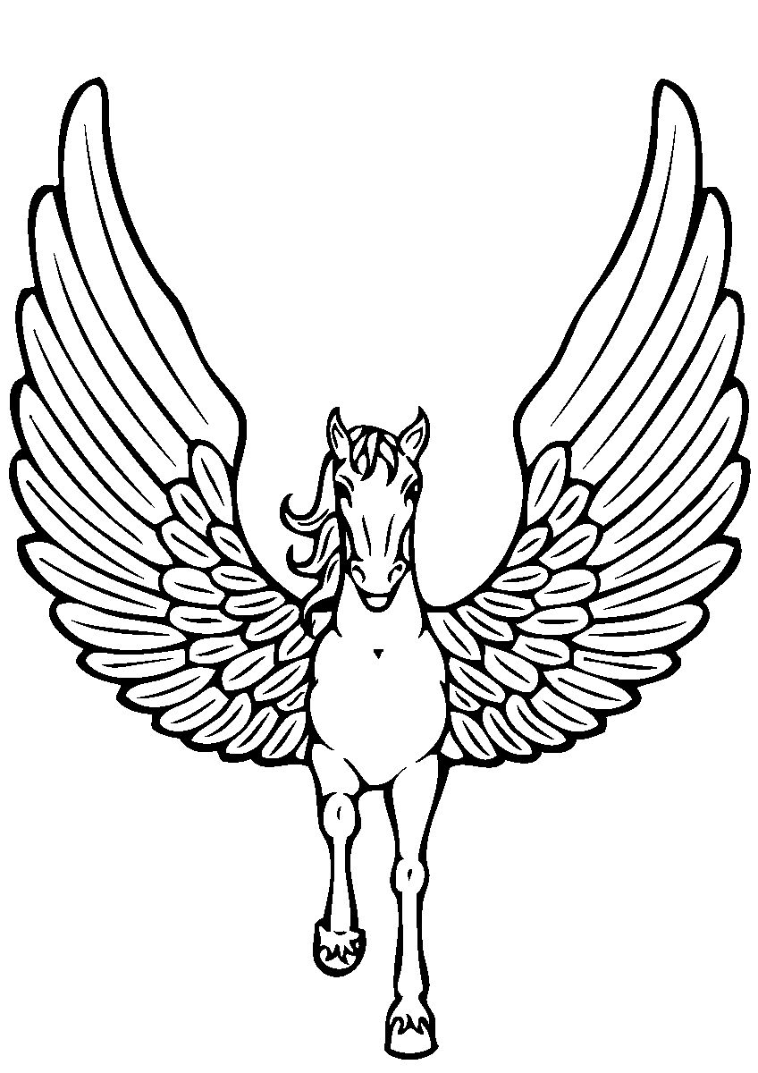 Coloring Pages Unicorn With Wings