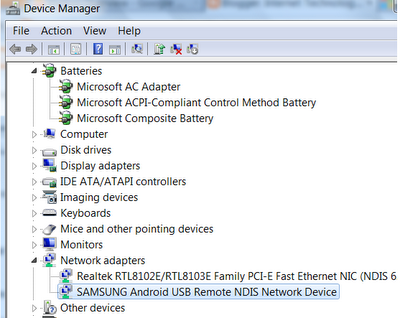 check for modem driver