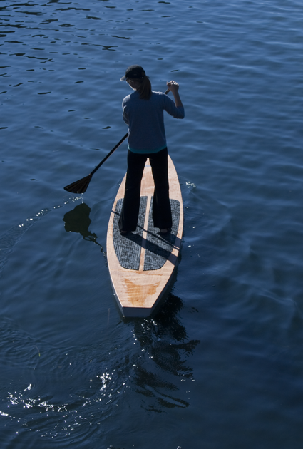 14ft Stand Up Paddleboard (SUP) in action. | Itching For Fun