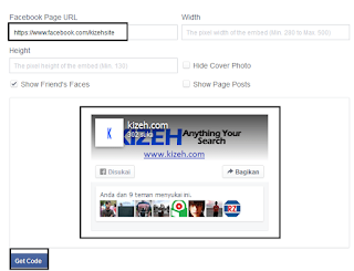 Pengaturan widget page like di facebook