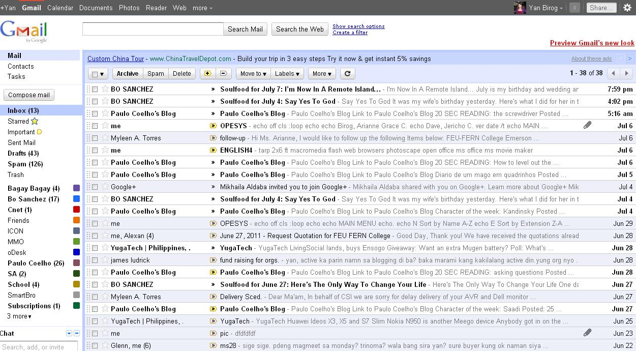 Gmail old theme - Classic Theme Old