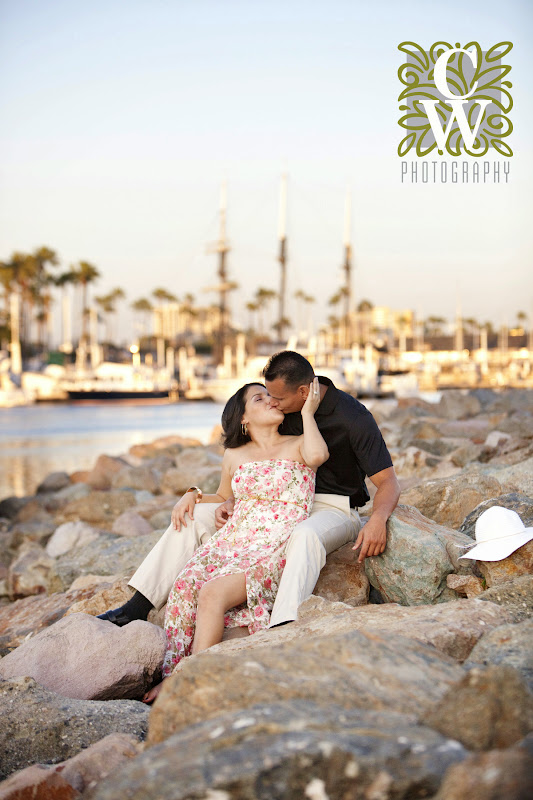 engagement portrait downtown long beach queen mary
