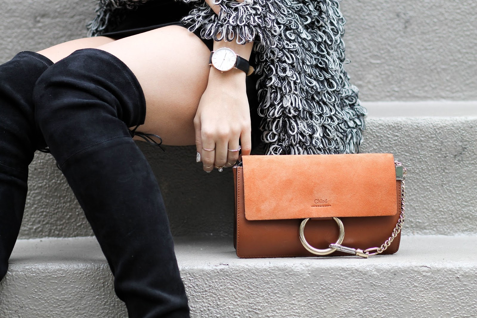 chloe brown small faye bag, dressed for dreams