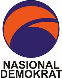 Logo Partai NASDEM (Nasional Demokrat).