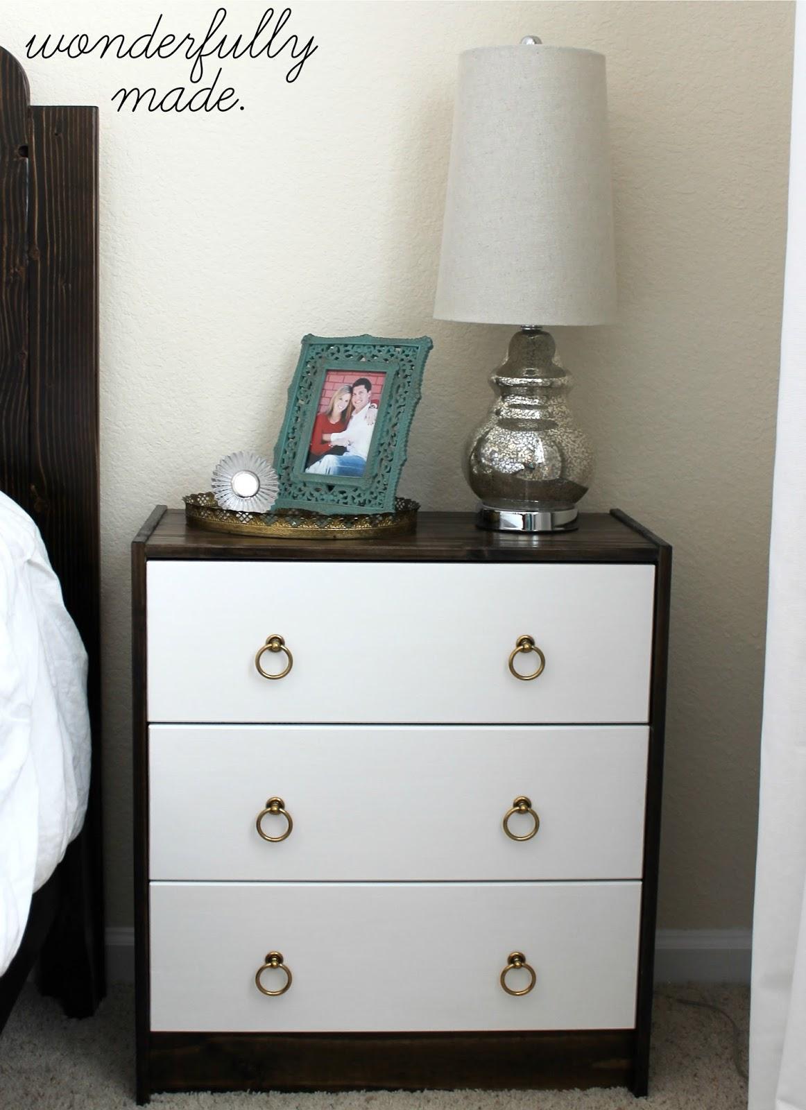 wonderfully made diy nightstands ikea rast hack. Black Bedroom Furniture Sets. Home Design Ideas