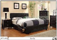 Tempat tidur laci minimalis kulit model sevila