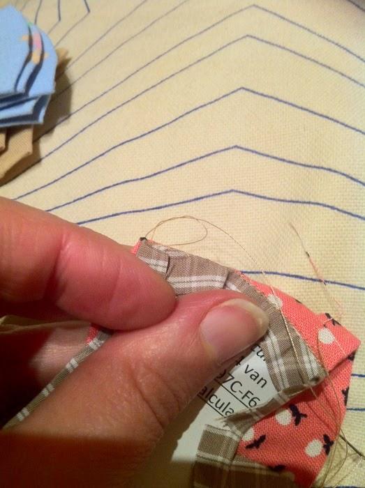 Afhechten bij English paper piecing