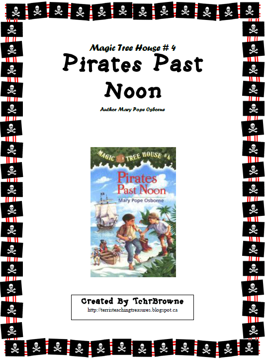 https://www.teacherspayteachers.com/Product/4-Magic-Tree-House-Pirates-Past-Noon-Novel-Study-97012
