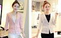 Pink/White Floral Lace Blazer