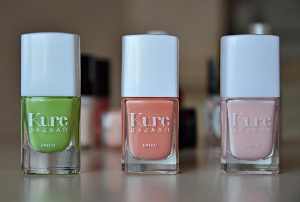 E_katerina: Kure Bazaar nail polish Lychee, Carioca, Rose milk