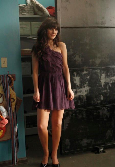 want it new girl jess purple wedding guest dress dose