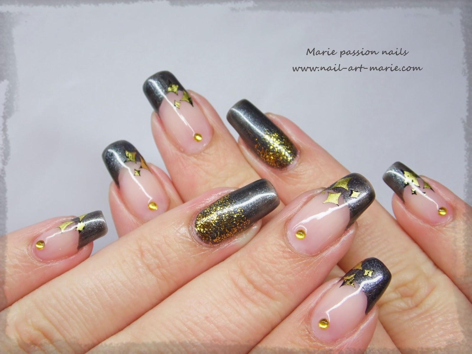 nail art stamping au foil5