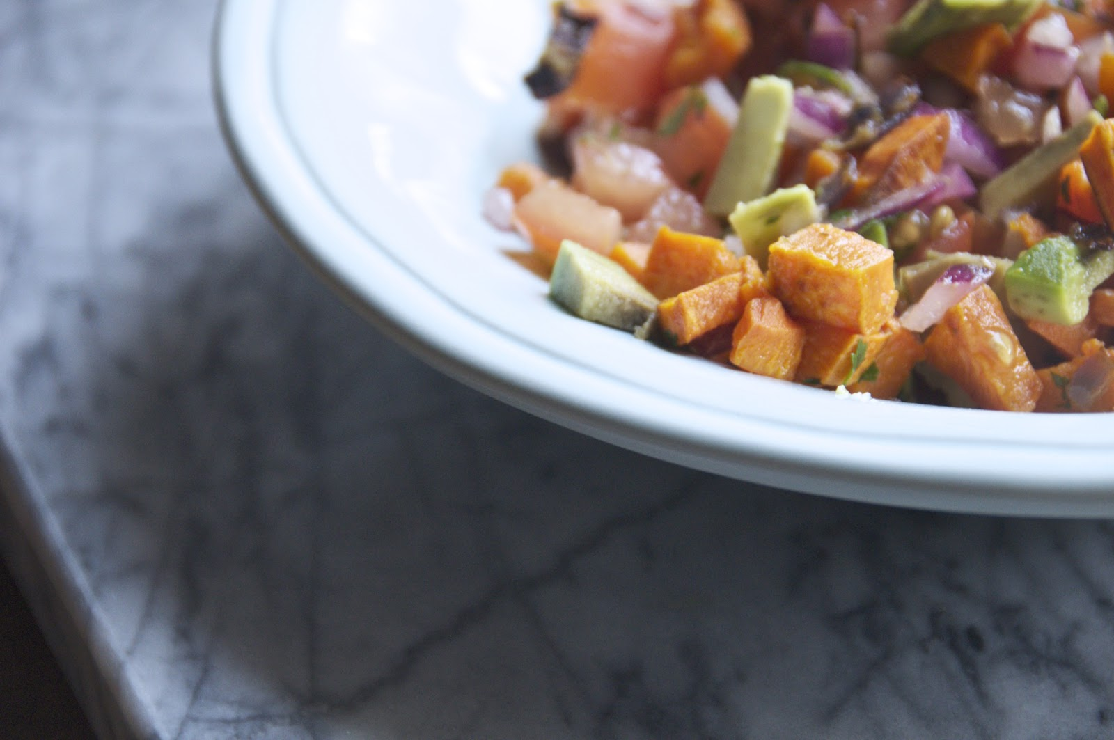see you in the morning: roasted sweet potato salsa