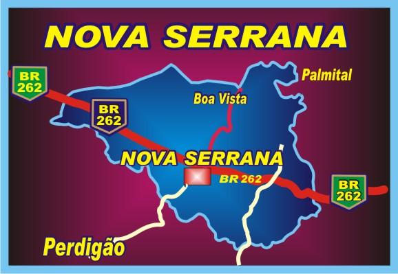Mapa do Município de Nova Serrana