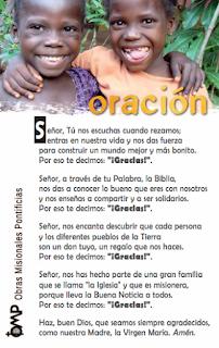 Oración Jornada Infancia Misionera