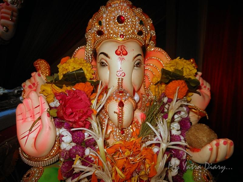 Cute Ganesha at Ganesh Pandal Hopping, Mumbai