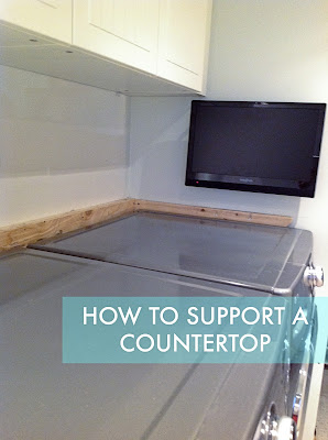 Countertop Materials For Laundry Room : How To Support A Countertop - Rambling Renovators