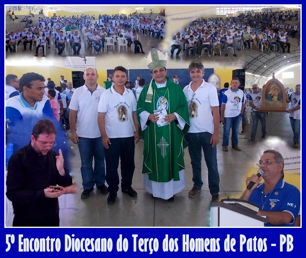 Fotos do 5º Encontro Diocesano do Terço dos Homens de Patos - PB