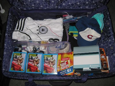 suitcase before moving abroad