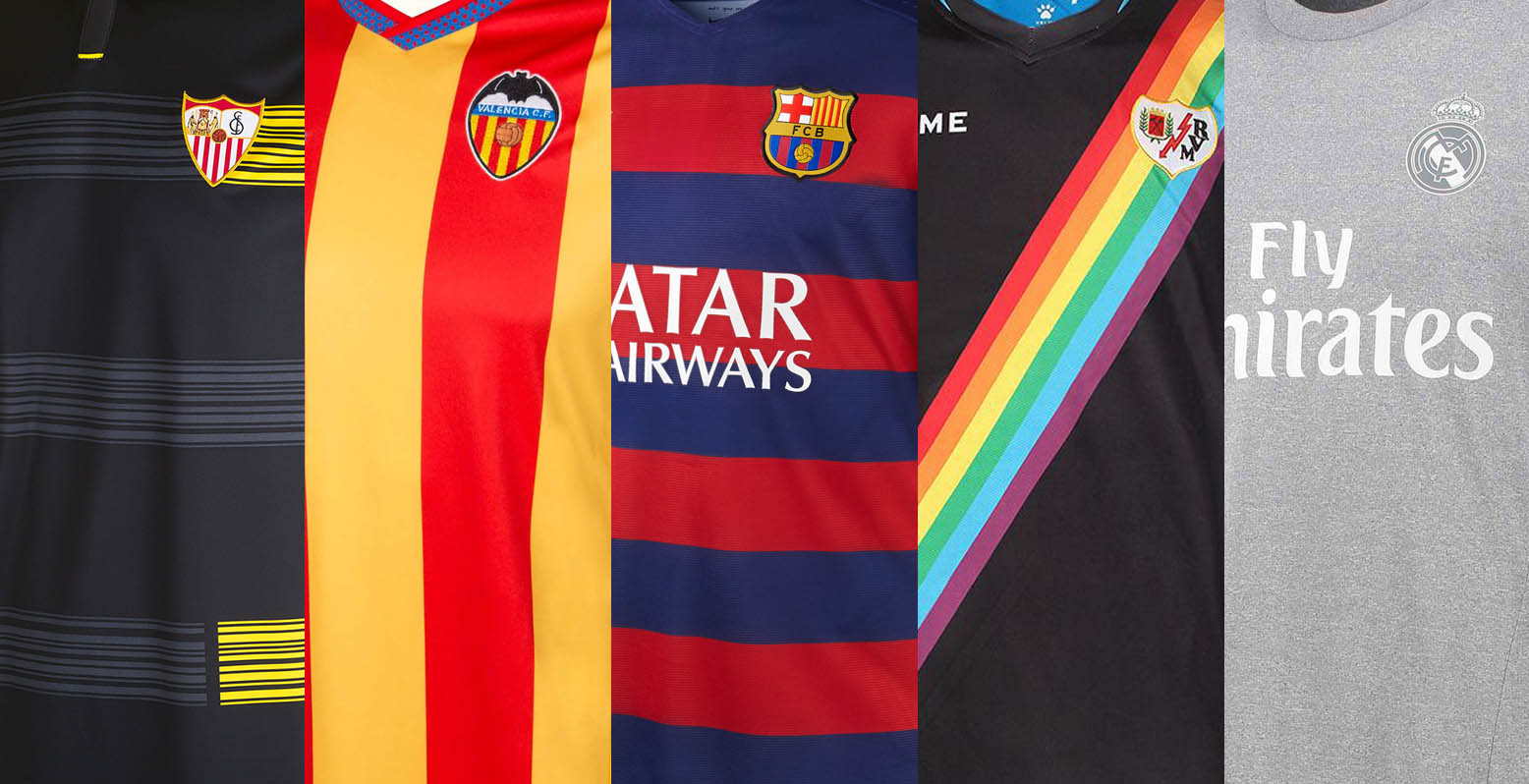 Spain la liga table standing 2016 2017 - 2015 16 La Liga Kits Special All 15 16 Liga Bbva Shirts In Pictures Footy Headlines