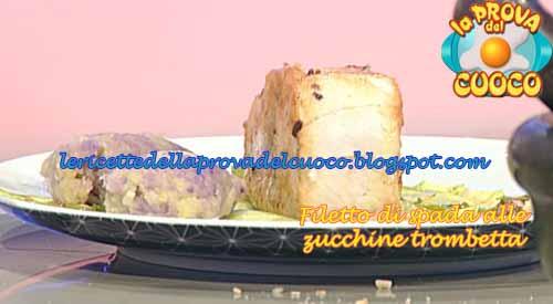 Filetto di spada alle zucchine trombetta con quenelle di for Cucinare zucchine trombetta