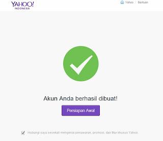 berhasil membuat email yahoo terbaru