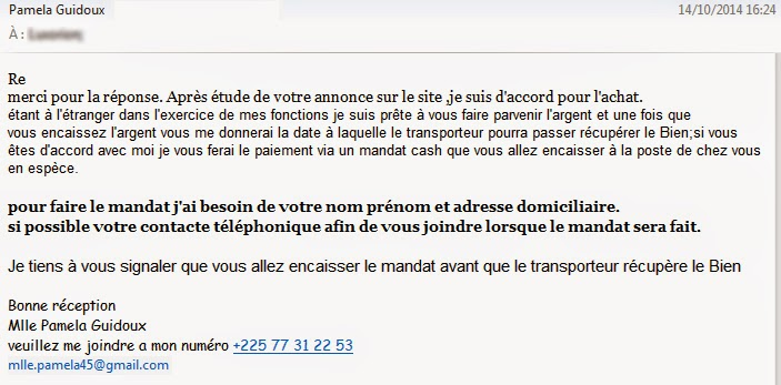 Reponse mail site rencontre