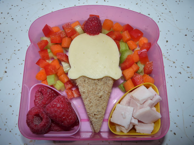 ice cream sandwich bento lunch